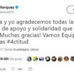 Rafa Márquez agradece 'muestras de apoyo y solidaridad'