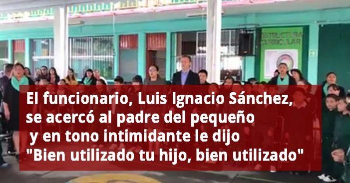 'Buenos días y no a la reforma educativa', dijo el niño Marco Antonio García a Aurelio Nuño