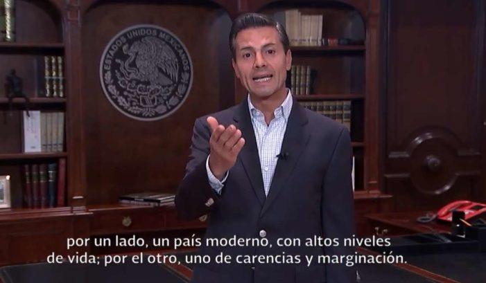 Peña Nieto reconoce que si hay gente pobre y rica en México (VIDEO)