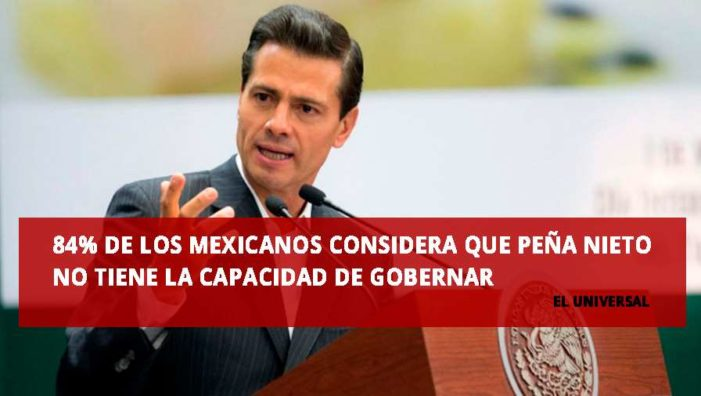 Sube 3% aprobación de Peña, personas preparadas lo rechazan: encuesta de El Universal