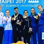 Mexicanos ganan oro en clavados y dos bronces en taekwondo en Universiada de Taipei