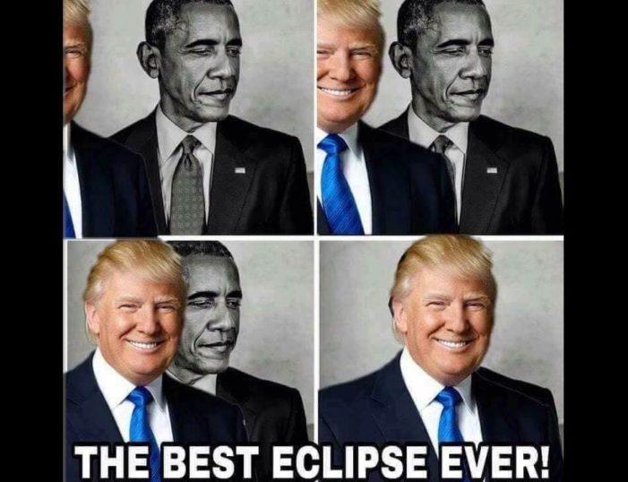 Trump 'eclipsa' a Obama en meme