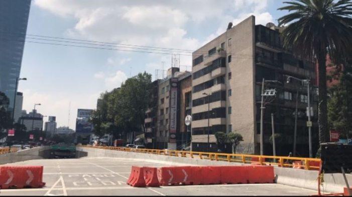 En los próximos días se  inaugurará el túnel de Mixcoac
