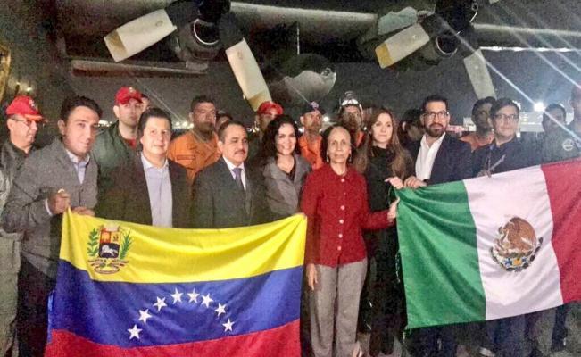 Venezuela envía 10.4 toneladas de ayuda humanitaria a México tras el sismo