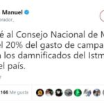 INE prohíbe a AMLO donar 41.1 millones de pesos de Morena a damnificados