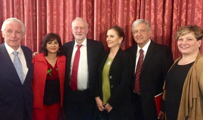 AMLO estrecha lazos en Londres; se reúne con dirigentes, sindicatos y diplomáticos