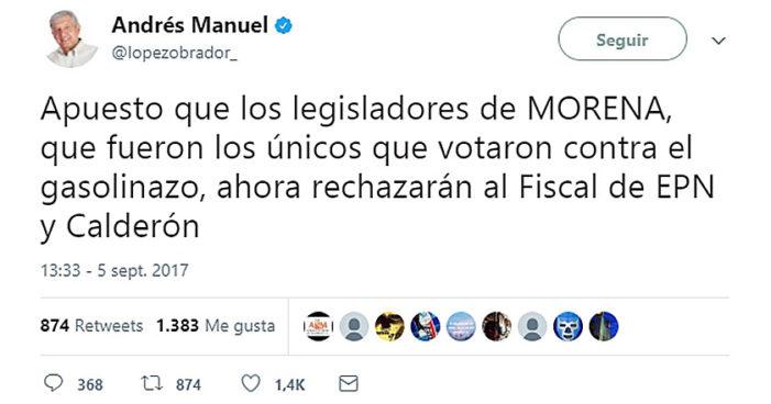 Confía AMLO en que senadores de Morena rechazarán a Raúl Cervantes como Fiscal General