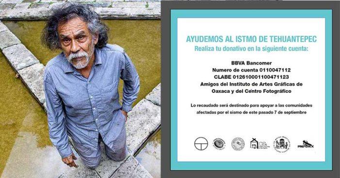 Francisco Toledo abre cuenta bancaria para ayudar a víctimas del sismo
