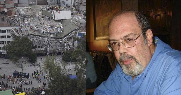 Ciudad de México: tras sismo murió un médico español investigador del sida