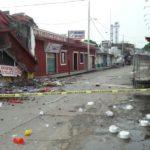 Por sismo, inmuebles afectados con anterioridad colapsan en Juchitán (VIDEO)
