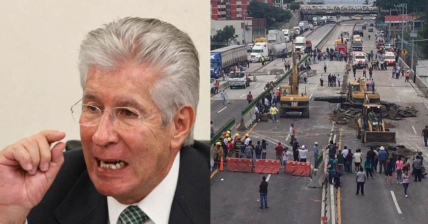 socavón del Paso Exprés SCT Ruiz Esparza Cuernavaca cndh