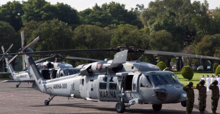 A balazos, sicarios intentaron derribar helicóptero de la Marina en Tamaulipas