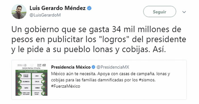 Ven venganza de presidencia contra Luis Gerardo Méndez por audio difundido