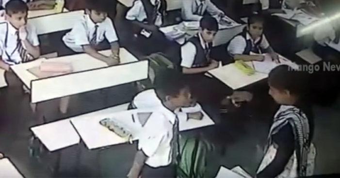 Maestra da 40 bofetadas a niño de primaria y lo deja inconsciente (Video)