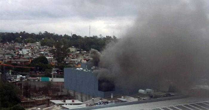 Reportan incendio por parque San Antonio, Álvaro Obregón
