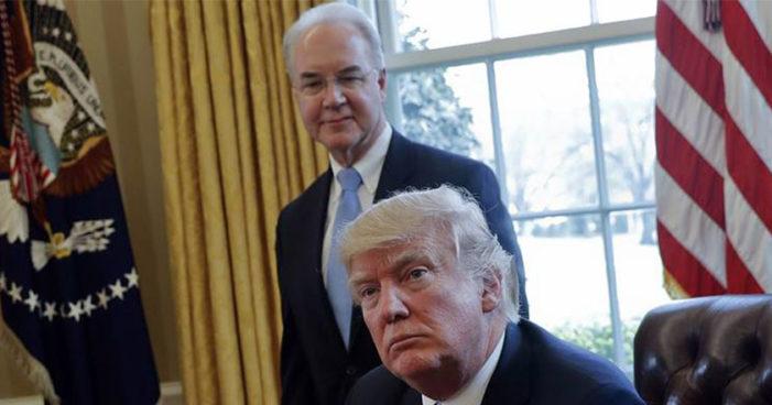 Se va otro miembro del gabinete de Trump: Thomas Price, secretario de Salud