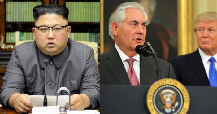 Tillerson: 'EU tiene comunicación directa con Corea del Norte'