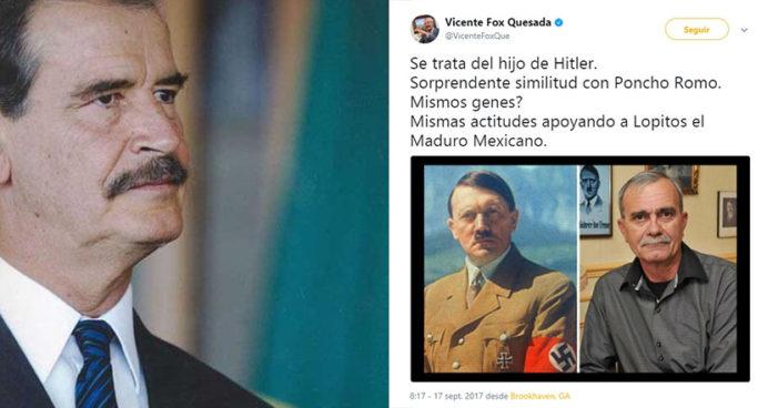Vicente Fox arremete contra Alfonso Romo, lo compara con Hitler 'porque se parecen'