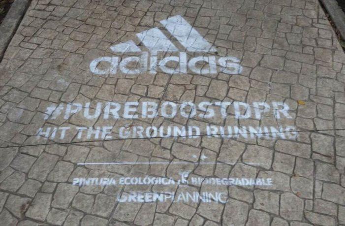 Adidas grafitea sin permiso corredor Amsterdam en la Cuauhtémoc