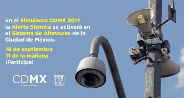 Este martes se activará la Alerta Sísmica en CDMX por simulacro