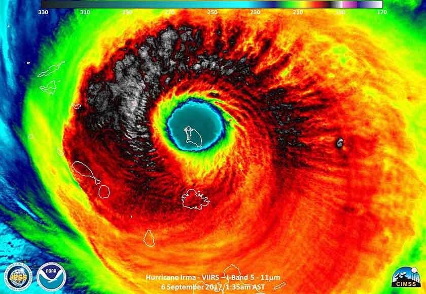 Huracán Irma deja destrucción en un 90% de la isla de Barbuda