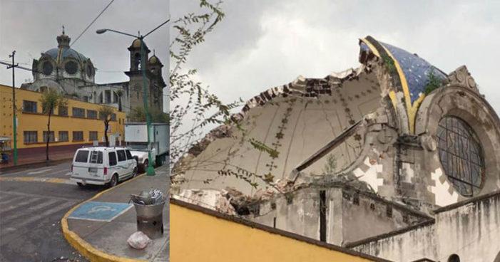 Ciudad de México: se desploma cúpula de iglesia en la Guerrero (Fotos)