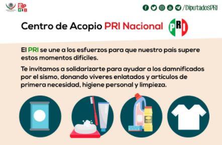PRI también se promociona con el desastre en Oaxaca