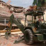 Demuelen escuela  de Juchitán por daños del sismo, tenía 79 años de antigüedad