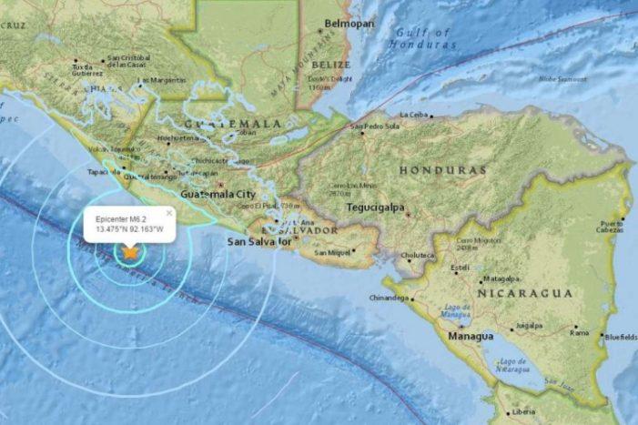 Suman más de 3 mil afectados en Guatemala por sismo con epicentro en México