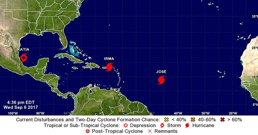 Huracán 'Irma' toca tierra al norte de Cuba, ya es categoría 5