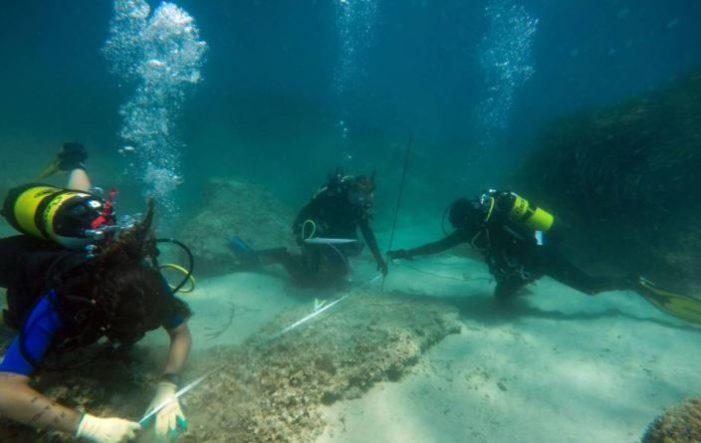 Descubren bajo el agua los restos de la ciudad romana Neápolis