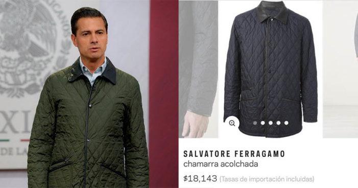 Con chamarra de 18 mil pesos, Peña Nieto mandó mensaje en cadena nacional