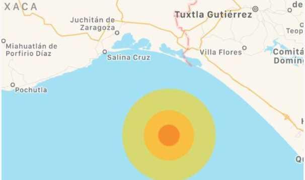 Sismológico Nacional reportó sismo de 5.5 grados en Chiapas