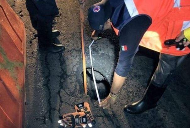 Se abre otro socavón de 5 metros de profundidad, ahora en Xochimilco