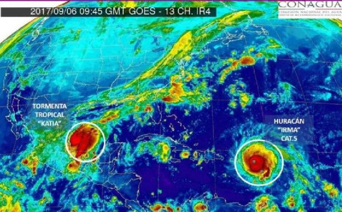 Tormenta tropical Katia amenaza al Golfo de México