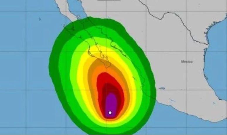 Surge tormenta 'Norma' en el Pacífico