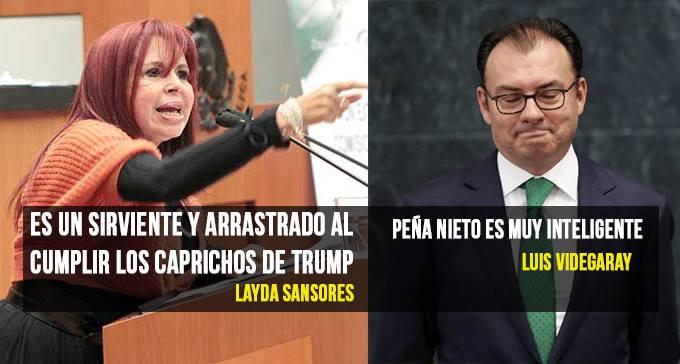 Layda Sansores encara a Videgaray; 'Servilismo con Trump es como comer caca'