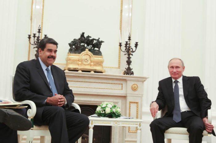 En reunión Putin reconoce a Maduro por enfrentar con diálogo la crisis en Venezuela