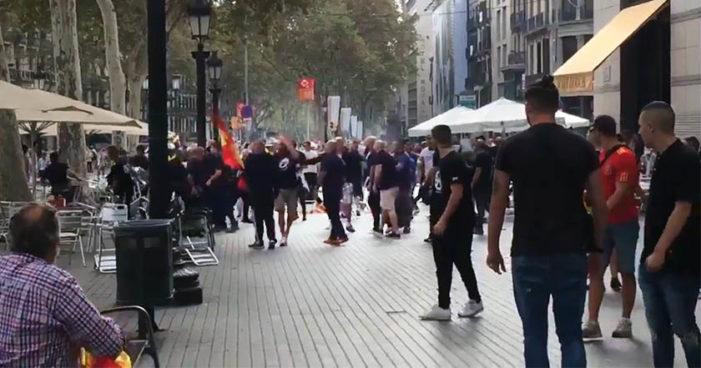 Violencia de ultras neonazis el Día de la Hispanidad en Barcelona (Videos)