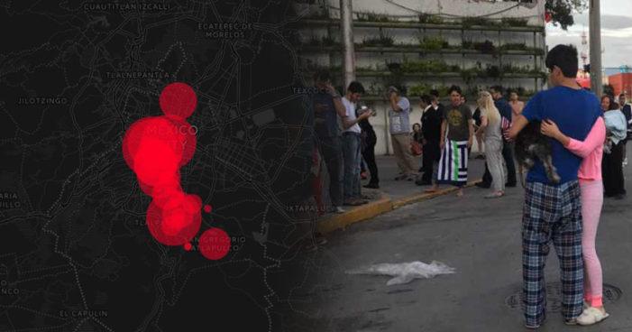Lanzan #MapaContraelOlvido, recuento de fallecidos por el sismo en Ciudad de México