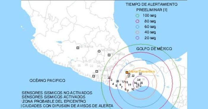 Reportaron sismo magnitud 5 en Pinotepa Nacional, Oaxaca