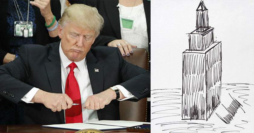 ¡No es broma! Dibujo de Trump se vendió en 16 mil dólares