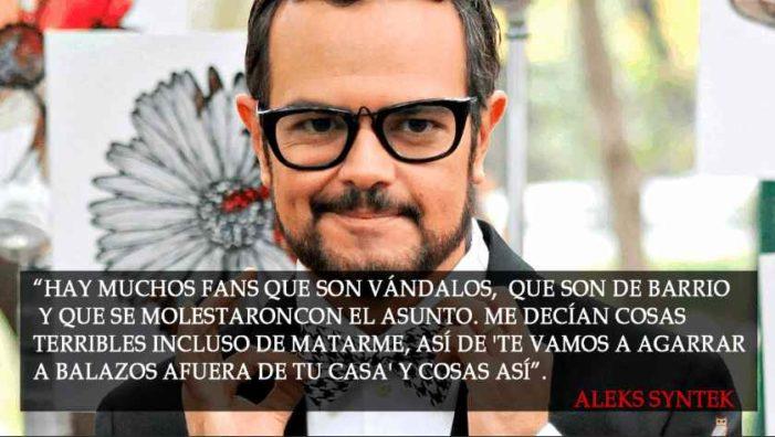 Aleks Syntek dice que está recibiendo amenazas de los 'fans vándalos' del reggaetón