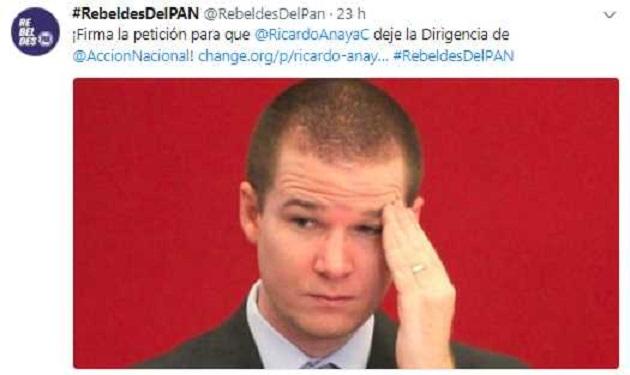 Panistas piden renuncia de Ricardo Anaya a través de Change.org