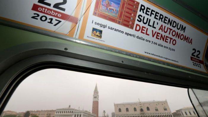 Votan en Italia por la independencia de Veneto y Lombardía, la participación supera el 50%
