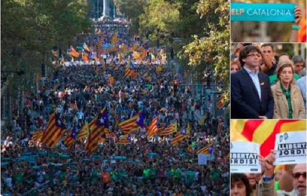 Catalanes protestan en las calles tras aplicación del artículo 155
