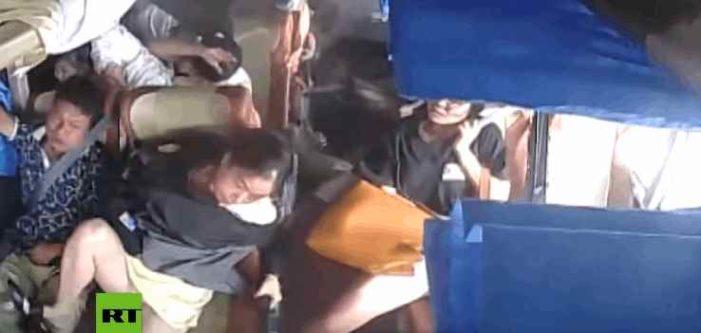 Fuertes imágenes de aparatoso accidente en China (VIDEO)