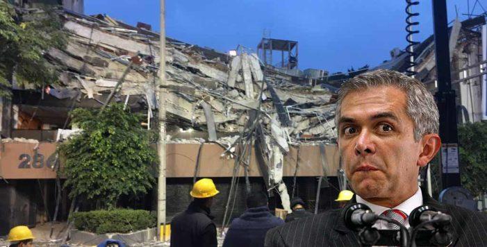 Antes del sismo, Mancera eliminó artículos que sancionaban irregularidades en construcciones