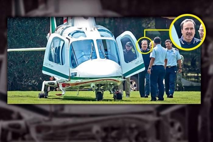 Emilio Gamboa usa helicóptero de la Fuerza Aérea para ir a jugar Golf