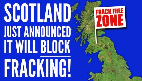 Escocia prohíbe el fracking